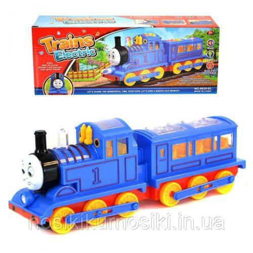 Детский музыкальный поезд Томас Train Thomas, музыкальный паровозик Томас 8928-02