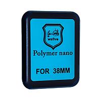 Защитная пленка Apple Watch 38mm Polymer Nano Film (Black) - 3D Full Glue, фото 1