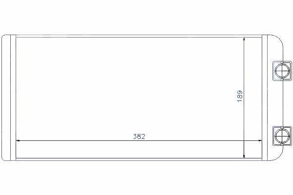 NISSENS РАДІАТОР ПІЧКИ, ВИПАРНИК НАГРІВАННЯ 300x185x42mm VOLVO FH 02.02 - D1 2/D16, FH 09.05 - D13 /WT/