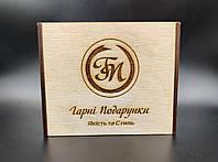 Поадрочная упаковка для портмоне из фанеры., фото 1