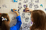 Детская 3D панель самоклейка под кирпич Разукрашка 700x770x5мм, фото 2