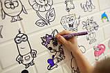 Детская 3D панель самоклейка под кирпич Разукрашка 700x770x5мм, фото 5