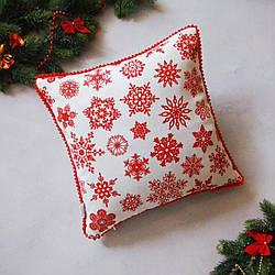 Наволочка новорічна на декоративну подушку 35*35