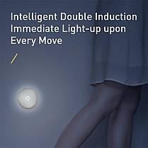 Ночник индукционный BASEUS Light garden Series Intelligent Induction Nightlight аккумулятор 1000mAh, фото 3