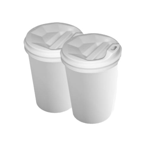 Бумажные стаканы 350 (400) мл Евро, двухслойные, белые, 25 шт./рукав (арт. 0114)