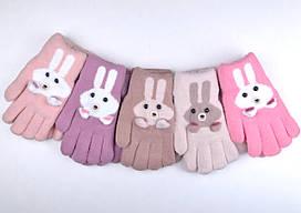 №435 Перчатки двойные Зайчик р. М (4-5 года) р.L (5-7 лет) 11 цветов!