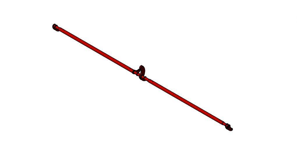 Вал подъема сошников первичный на сеялку СЗ-5,4 ОЗШ 00.040Б