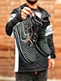 Мужские высокие кроссовки  Nike черные (копия), фото 3