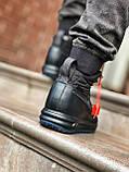 Мужские высокие кроссовки  Nike черные (копия), фото 5