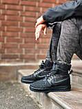Мужские высокие кроссовки  Nike черные (копия), фото 6
