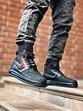 Мужские высокие кроссовки  Nike черные (копия), фото 4