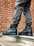 Мужские высокие кроссовки  Nike черные (копия), фото 7