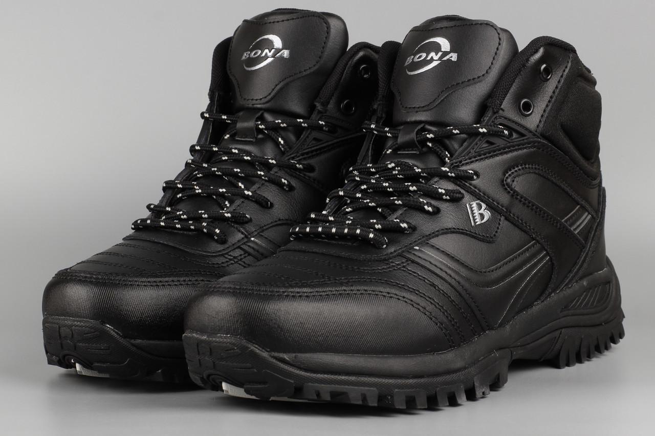 Ботинки унисекс черные Bona 760C-2-6 Бона женские Размеры 36 37 38 39