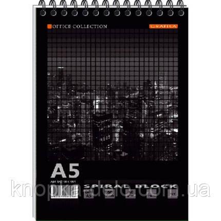 Блокнот А5 MEGPOLIS спір. 60арк. карт. обкладинка тверда підкладка ВА5460-004, фото 2
