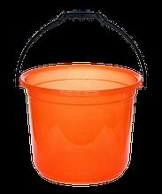 Ведро мерное 12 л оранжевый