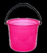Ведро мерное 12 л розовый