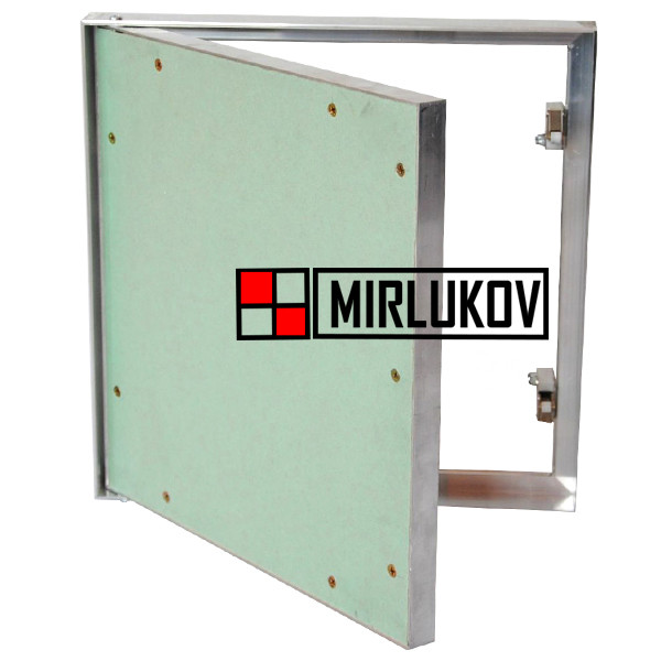Дверца под обои и покраску 300х500 (ШхВ) Алюминиевая Модель Короб