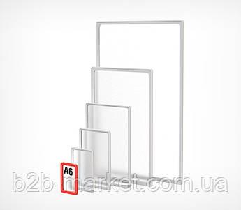 Пластикова рамка А6 формату