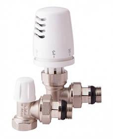 Комплект радиаторных клапанов ICMA термостатический угловой