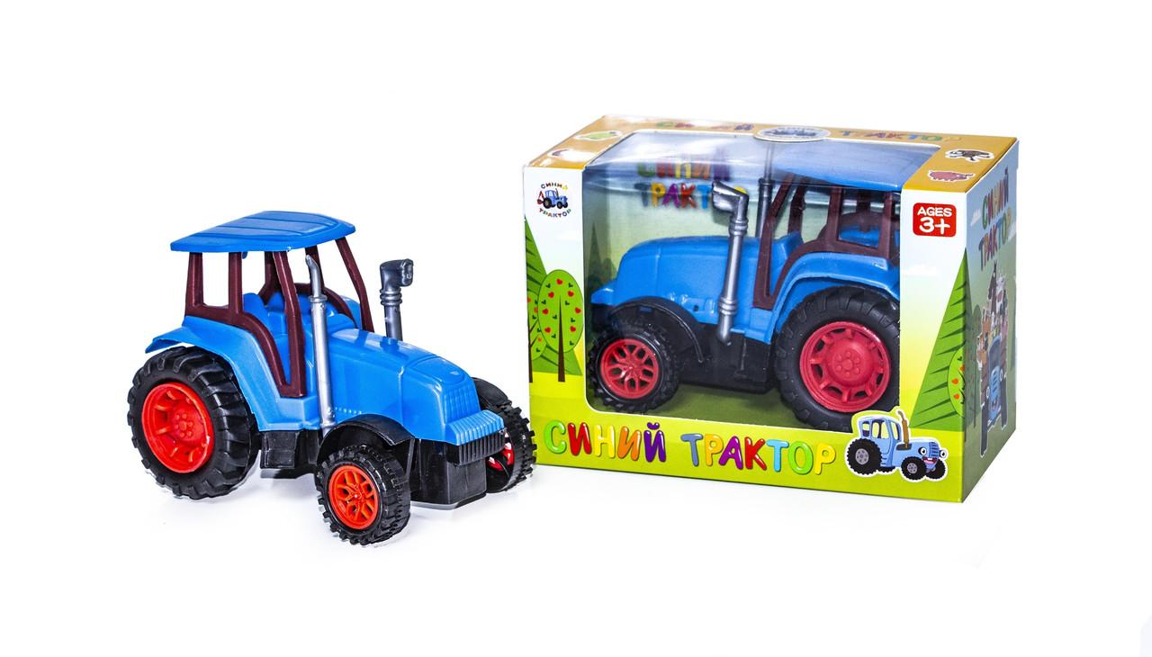 Синий Трактор в блистере, инерционный