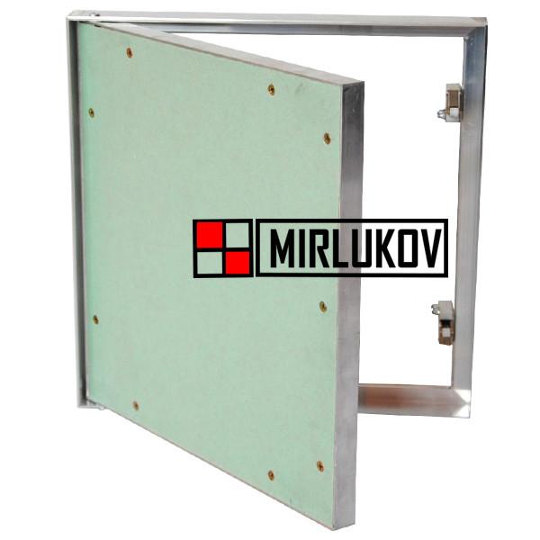 Дверца под обои и покраску 600х600 Алюминиевая Модель Короб