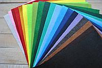Набор Фетра жесткого однотонного Ассорти цветов 1мм 20 х 25см.