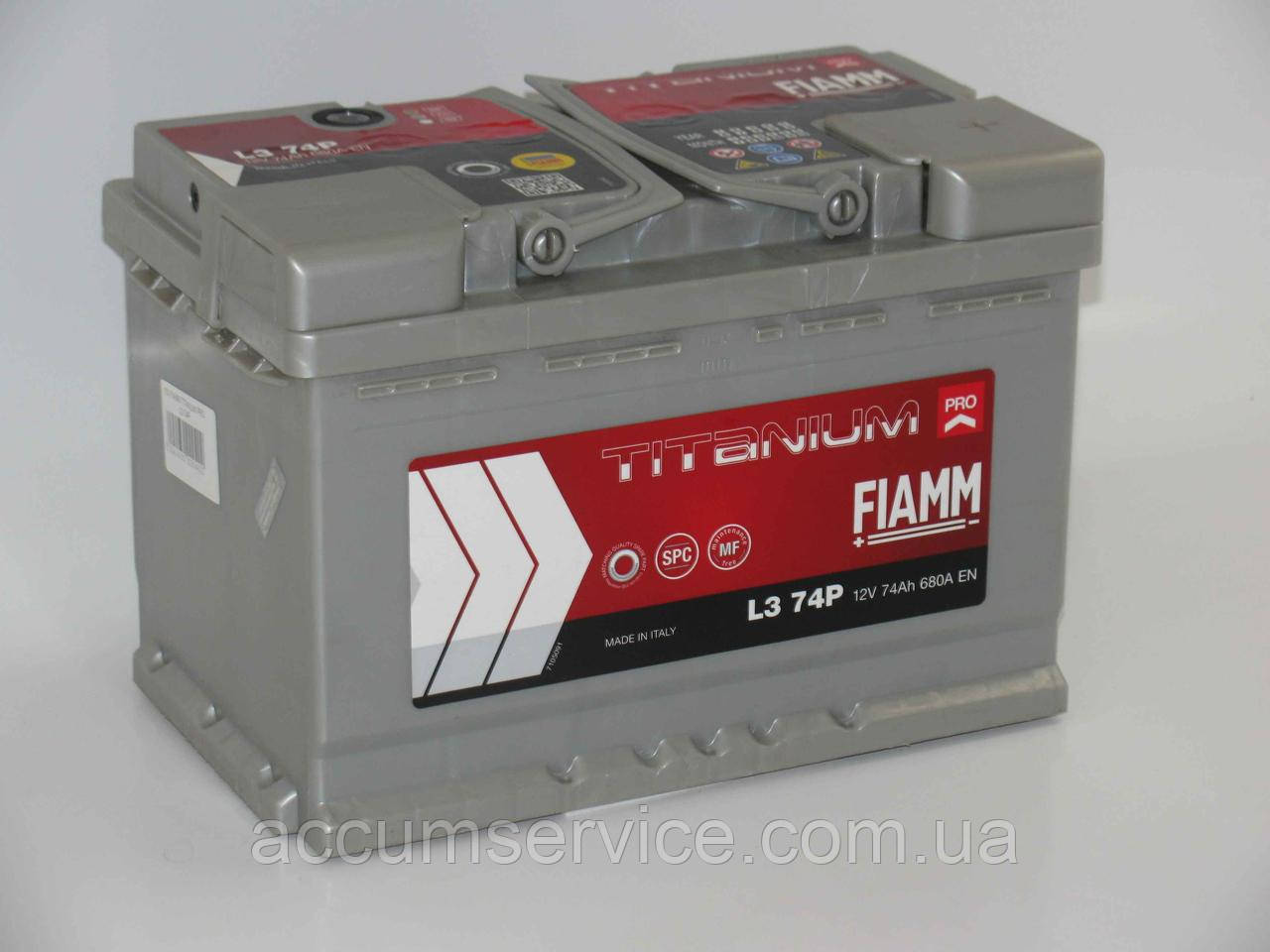 Акумулятор FIAMM TITANIUM PRO L3X 74P