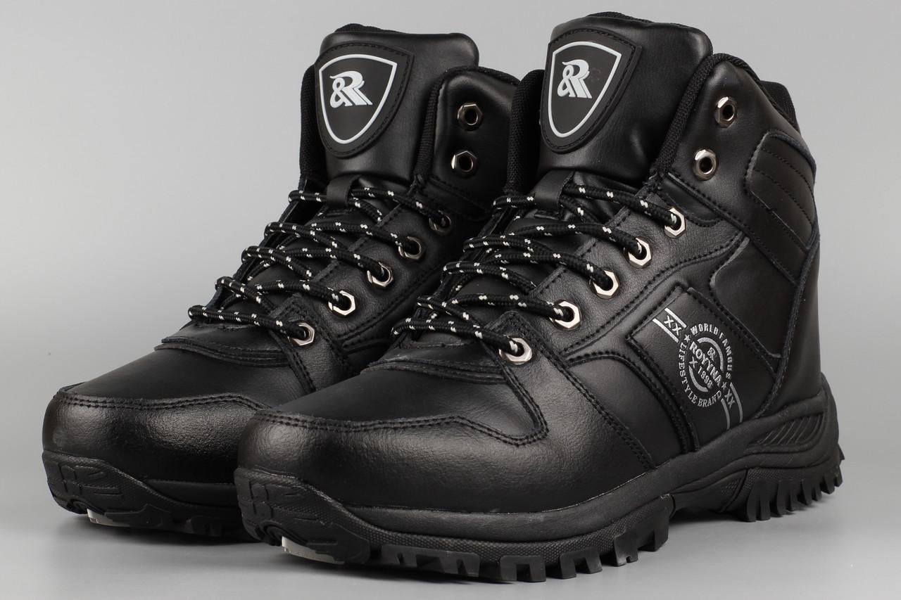 Ботинки мужские Royyna 018C-6 Ройна черные Размеры 41 42 43 45 46