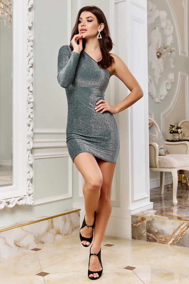 Коктейльне міні плаття облягає