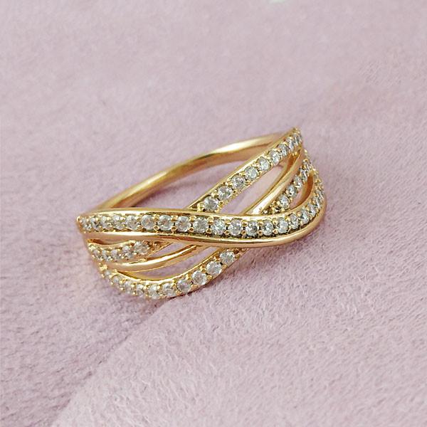 Кольцо Xuping Jewelry размер 19,5 Дороти медицинское золото позолота 18К А/В 2-0361