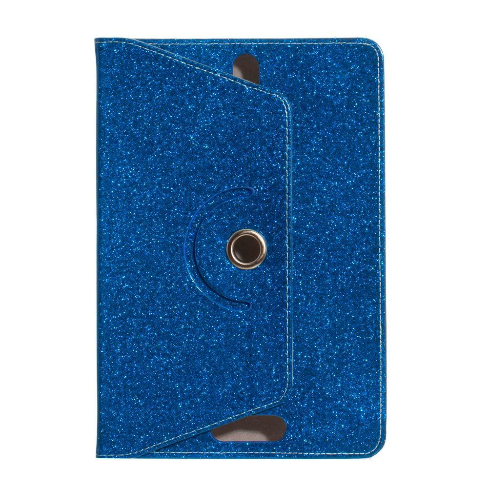 """Универсальный поворотный чехол для планшета 10 дюймов (10"""") Glitter синий"""