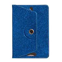 """Универсальный поворотный чехол для планшета 10 дюймов (10"""") Glitter синий, фото 1"""