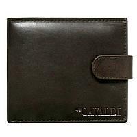 Мужское кожаное портмоне на кнопке Cavaldi N992L-SCR коричневое, фото 1