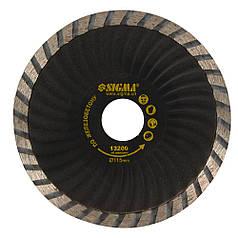 """Круг алмазный по железобетону """"Турбоволна"""" Ø115×2.6×22.2мм, 13200об/мин SIGMA (1923221)"""