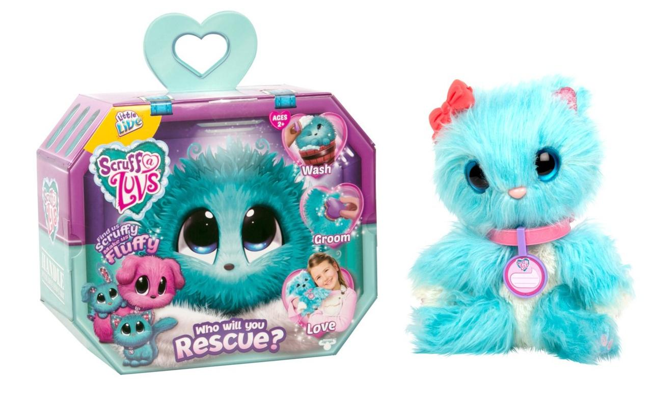Мягкая игрушка сюрприз Няшка Потеряшка Голубая Little Live Scruff-A-Luvs Plush Mystery Blue мятная