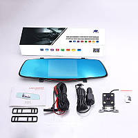 Зеркало-видеорегистратор ЕА931 3в1 экран 5 дюймов + Видео парковка. В чёрном корпусе