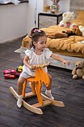 """Деревянная детская качалка """"Лосяш"""", оранжевый цвет, фото 2"""