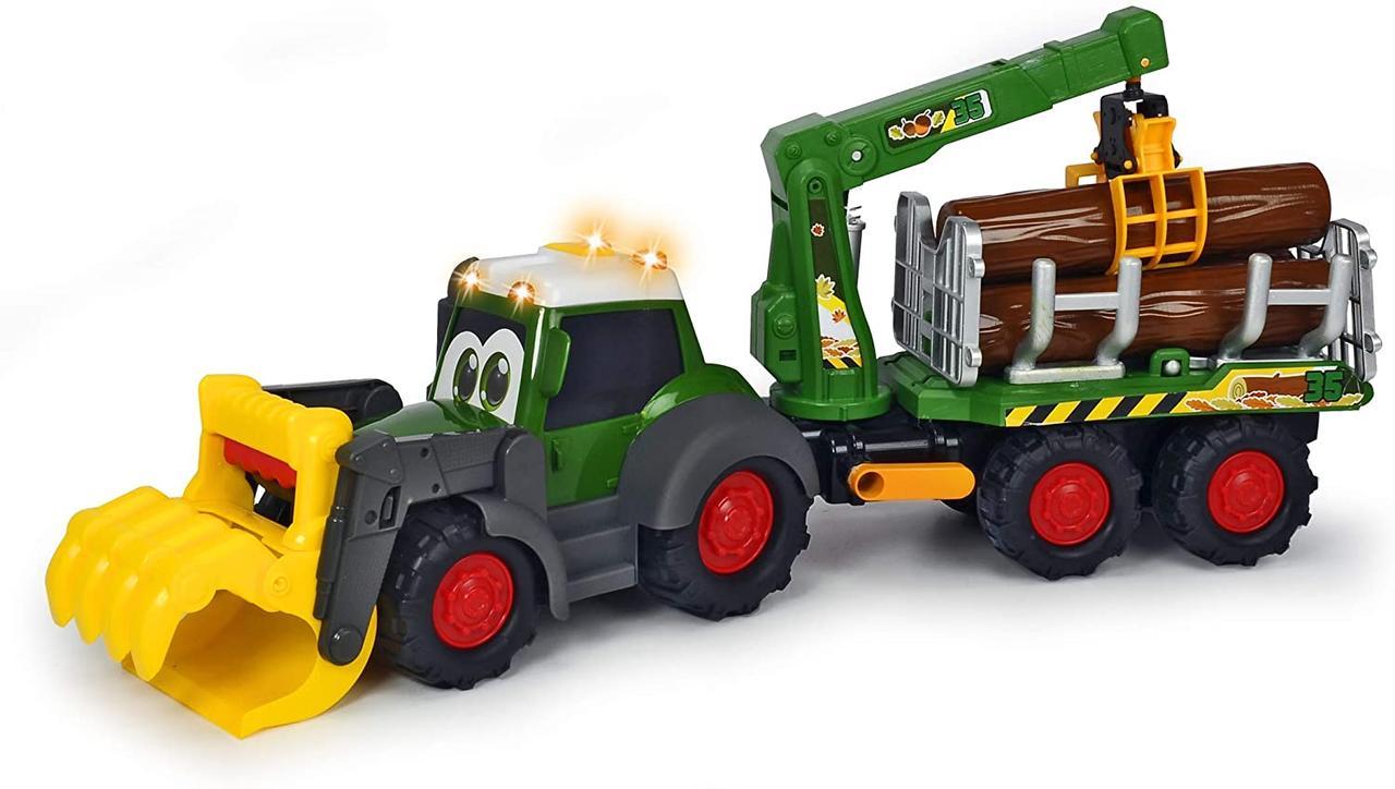 Трактор лесника Хеппи. Фендт со световыми и звуковыми эффектами Dickie Toys 3819003