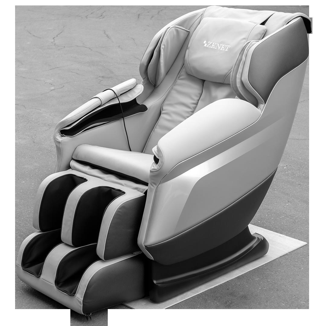 Массажное кресло ZENET ZET 1450  Серое+ДОСТАВКА