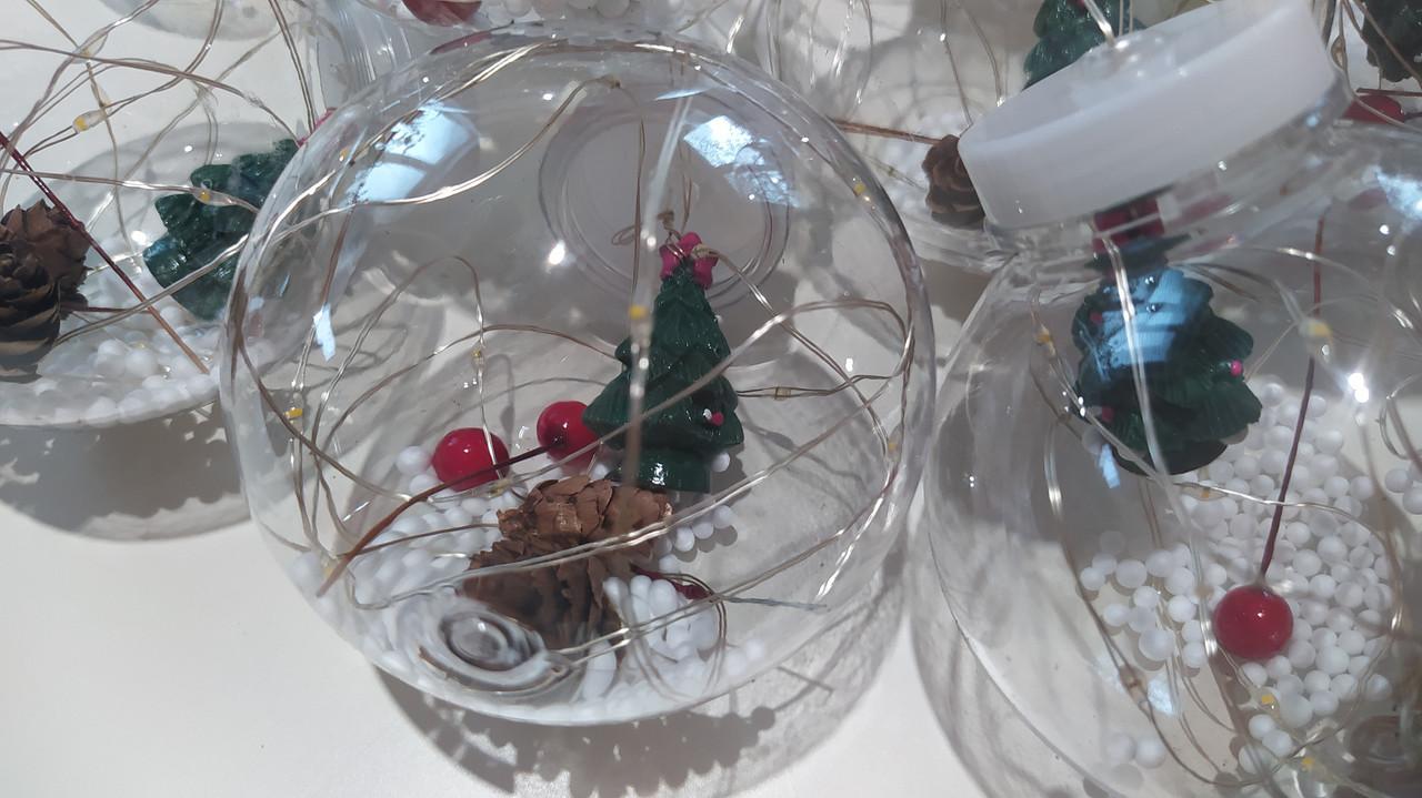 Гирлянда штора 3*1м ШАРИКИ новогодняя, холодный белый