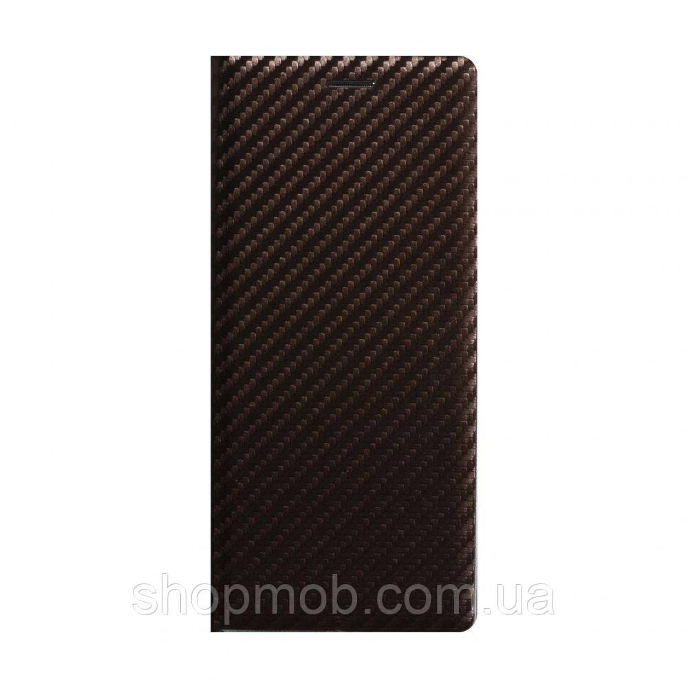Чохол-книжка Carbon for Huawei P40 Lite Колір Коричневий