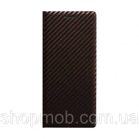 Чохол-книжка Carbon for Huawei P40 Lite Колір Коричневий, фото 2