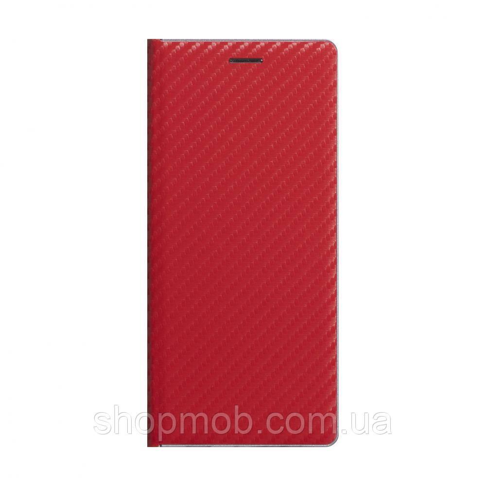 Чохол-книжка Carbon for Huawei Y6P Eur Ver Колір Червоний