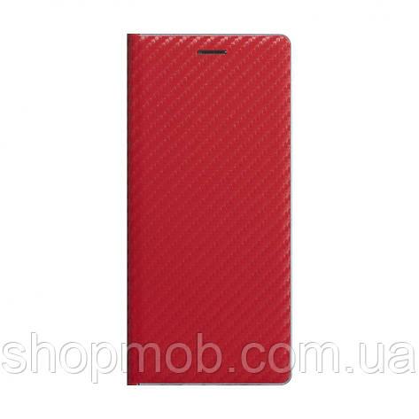 Чохол-книжка Carbon for Huawei Y6P Eur Ver Колір Червоний, фото 2