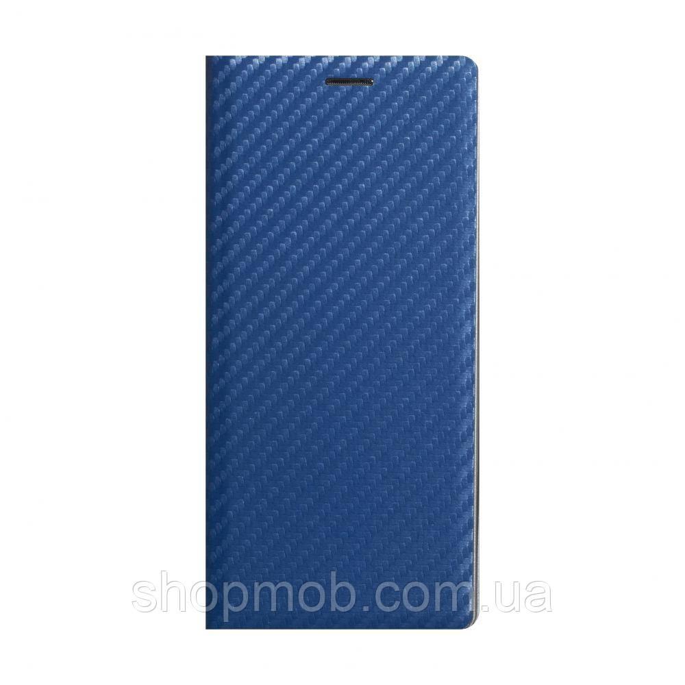 Чехол-книжка Carbon for Samsung A21s Цвет Синий