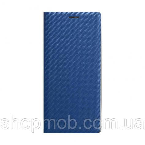 Чехол-книжка Carbon for Samsung A21s Цвет Синий, фото 2