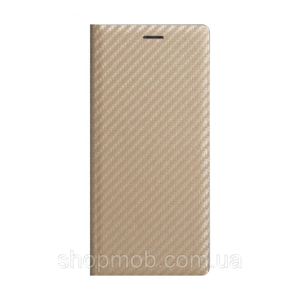 Чохол-книжка Carbon for Xiaomi Redmi 9A Колір Золотий