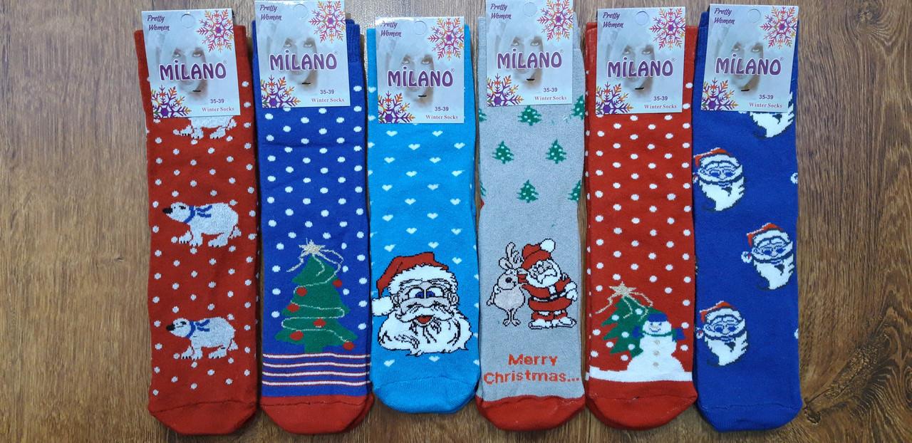 """Шкарпетки жіночі махрові """"MILANO"""", Туреччина 36-39 Новий Рік"""