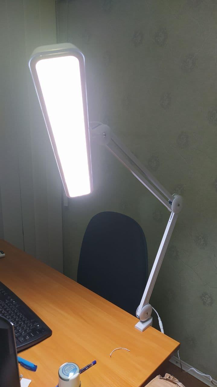 Лампа LED на струбцине LAMP-9505LED с диммингом, 117 светодиодов WHITE