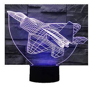 3D Світильник Літак 13-8